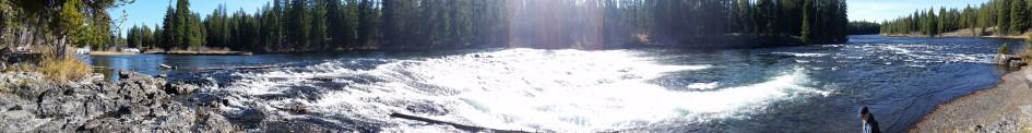 Cave Falls Yellowstone Panoramic