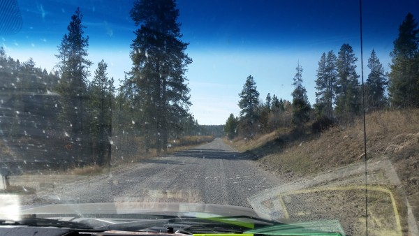 Road between Ashton, Idaho and Cave Falls Yellowstone (2)