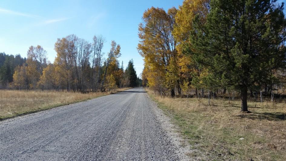 Road between Ashton, Idaho and Cave Falls Yellowstone