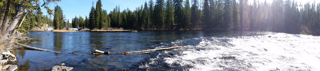 Panoramic from lower to upper falls