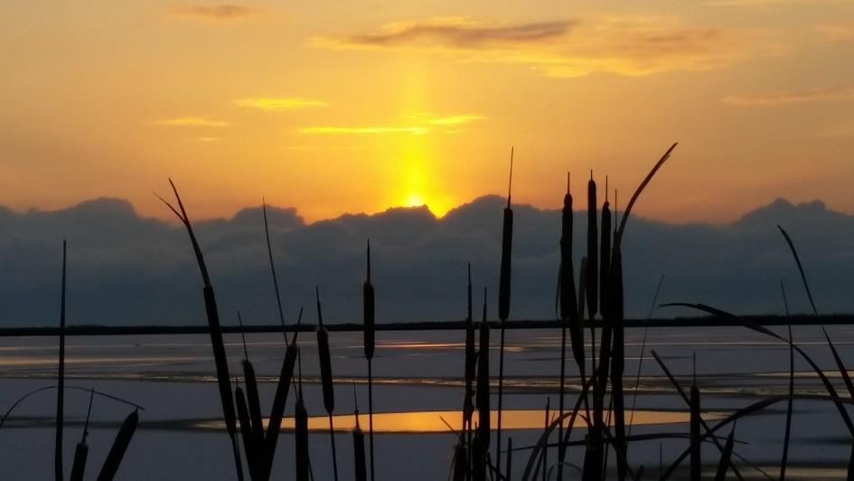Candlelight Sunset, Great Salt Lake, Utah